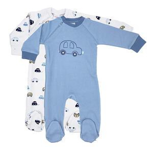 My Baby Lou Schlafanzugset 2-tlg. , 439202 , Blau, Weiß, Taupe, Dunkelblau , Textil , onesize , Interlock-Jersey , einteilig , 005666050206