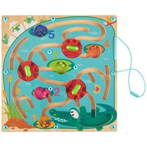 My Baby Lou Magnetisches labyrinth , Magnetisches Labyrinth , Multicolor , Kunststoff , 29.5x3x29.5 cm , lackiert,lackiert,glänzend,Nachbildung, teilmassiv , schadstofffrei,schadstofffrei,schadstoff