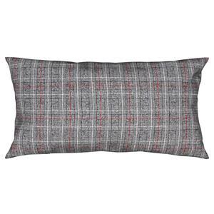 Ambiente Kissenhülle anthrazit, rot 40/80 cm , Tessuto , Textil , Karo , 40x80 cm , Biber , hochwertige Qualität , 004891014602