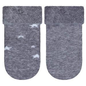 My Baby Lou Socken 2-er pack , Socken-Silikonmuster , Grau, Weiß , Textil , Stern , onesize , ABS-Socken , 006426000404