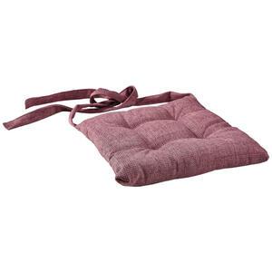 Novel Sitzkissen altrosa , Dallas , Textil , Uni , 47x45x7 cm , Webstoff , mittels Bändern zu befestigen , 004118012806