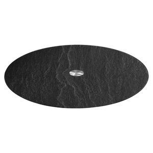 Leonardo Servierplatte , 018700 , Anthrazit, Schwarz , Metall, Glas , 0038130455