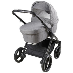 My Baby Lou Kinderwagen grado basic hellgrau , Grado Basic , Metall , 63x103x100.5 cm , lackiert,lackiert,Webstoff , Feststellbremse, 5-Punkte-Gurt, für Babyschale geeignet, Sitz umsetzbar,Feststell