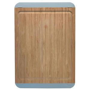 Homeware Profession. Schneidebrett holz, kunststoff bambus , Hp90094M , Braun, Grau , massiv , 23x33 cm , Natur,softmatt,Echtholz , Saftrille , 006593003502