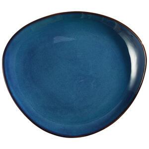 Landscape Speiseteller keramik steinzeug , Organic , Blau , 25.5x3.1x29.5 cm , glänzend , handgemacht , 006593004801