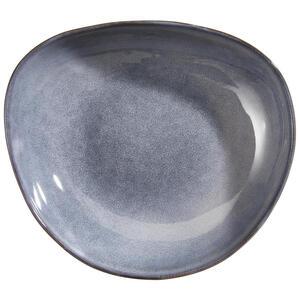 Landscape Suppenteller steinzeug , Organic , Dunkelgrau , Keramik , 20x5.5x22.5 cm , glänzend , handgemacht , 006593005003