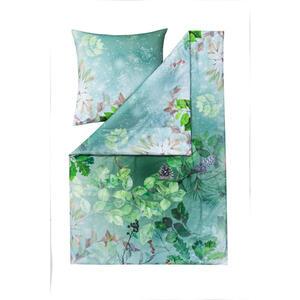 Estella Bettwäsche flanell grün , 4417001-530 Forest (Impulse) , Textil , Blätter , 135x200 cm , Flanell , pflegeleicht, atmungsaktiv, hautfreundlich, angenehm wärmend, bügelleicht, schadstoffge