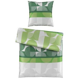 Novel Bettwäsche satin grün 135/200 cm , Alwar , Textil , Abstraktes , 135x200 cm , Satin , 005397017803