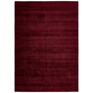 Novel Teppich 80/150 cm bordeaux , Shine , Textil , Uni , 80x150 cm , Webstoff,Webstoff , rutschfest, leicht zusammenrollbar , 006767008154