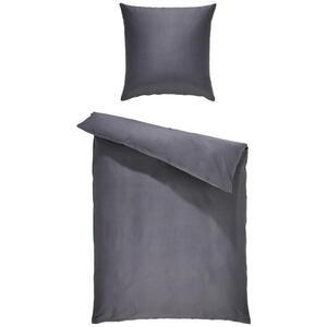 Bio:Vio Bettwäsche satin anthrazit 155/220 cm , Merada , Textil , Uni , 155x220 cm , Satin , 004378011302