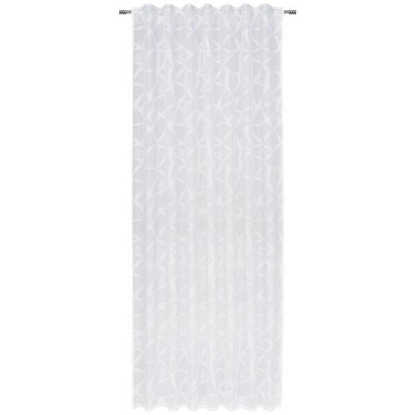 Novel Fertigvorhang halbtransparent 140/245 cm , Grano , Weiß , Textil , Abstraktes , 140x245 cm , Webstoff , für Stange und Schiene geeignet, mit Kombiband , 004789063901