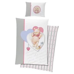 Disney Babybettwäsche , Winnie THE Pooh , Creme, Rosa , Textil , Bär , Renforcé , 0062310059