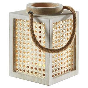 Ambia Home Laterne , X20191125 , Creme , Glas , 24 cm , Natur,klar,Nachbildung , Glaseinsatz , 0080900095
