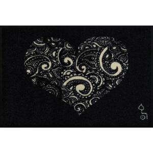 Esposa Fußmatte 50/75 cm weiß, dunkelgrau , Liebe IST Alles , Textil , 50x75 cm , rutschfest, für Fußbodenheizung geeignet , 004336027889