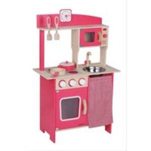 Beeboo Holzküche rot mit Zubehör