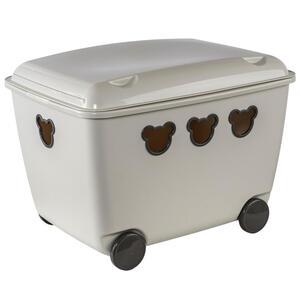 My Baby Lou Spielzeugbox , 1900 , Beige , Kunststoff , Uni , 1 Fächer , 39.8x37x53.4 cm , matt , Deckel, Rollen, Deckel abnehmbar , 004909003803