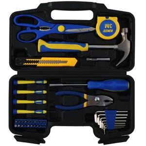 XXXLutz Werkzeugset , Werkzeugset , Blau, Gelb, Silberfarben , Metall , 10x2x24 cm , 006287122301