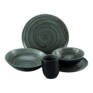 Creatable Steingut kombiservice 16-teilig , Villa Romana Stein 23291 , Grau , Keramik , 320 ml,400 ml , 34x32x48 cm , 0077680341
