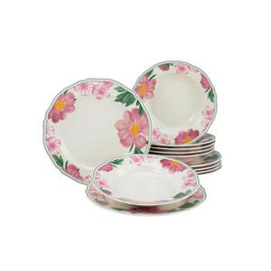 Creatable tafelservice 12-teilig , Alba Rose Tafelservice 22755 , Multicolor , 24.5x31x30 cm , 007768034402