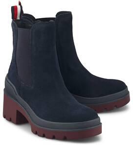 Tommy Hilfiger, Chelsea-Stiefelette Sporty Chunky in dunkelblau, Boots für Damen