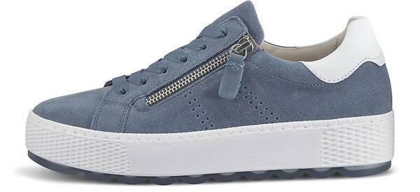 Gabor, Trend-Sneaker Florenz in hellblau, Schnürschuhe für Damen