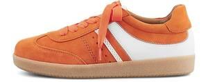 Gabor, Retro-Sneaker Las Vegas in orange, Schnürschuhe für Damen