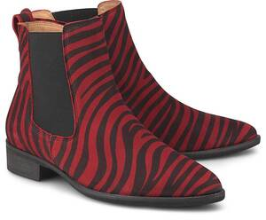 Gabor, Chelsea-Boots in rot, Stiefeletten für Damen