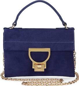 Coccinelle, Tasche Mignon Suede in dunkelblau, Henkeltaschen für Damen
