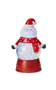 "Markslöjd TOMMY Wasserlaterne Santa ""rot-weiß, LED, H 19 cm x T 10 cm x B 10 cm"""