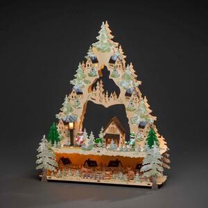 """Konstsmide LED Holzpyramide Dorf """"39 x 9 x 31,5 cm"""""""