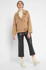 Oversize Jacke mit Wolle