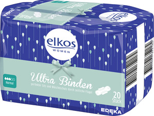 EDEKA elkos Ultrabinden Normal Plus+Seide 20St