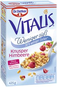 Dr.Oetker Vitalis Knusper Himbeer weniger süß 425 g