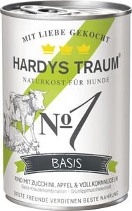 Hardys Traum Basis No1 Rind mit Zucchini, Apfel & Vollkornnudeln Hundefutter nass 400 g