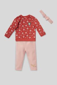 Minnie Maus - Baby-Outfit - 3 teilig - Glanz-Effekt
