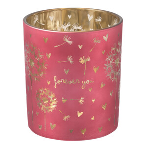 Großes Windlicht mit Pusteblumen-Motiv