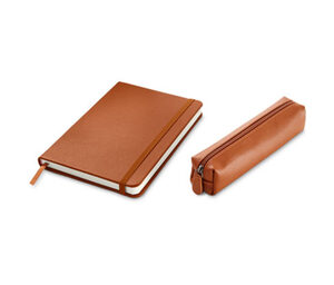 Notizbuch und Stifteetui