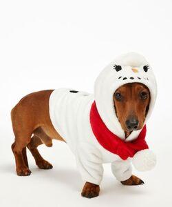 Hunkemöller Fleece Hunde-Onesie Weiß