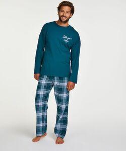 Hunkemöller Pyjama-Set für Männer Blau
