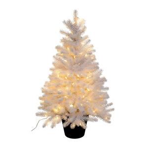 X-Mas Kunstpflanze tanne , 3018777Lo-40 , Schwarz, Weiß , Kunststoff , 90 cm , inkl. Topf, LED-Beleuchtung , 004297226002