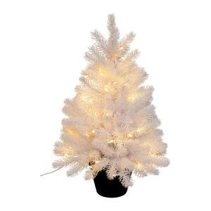 X-Mas Kunstpflanze tanne , 3018776Lo-40 , Schwarz, Weiß , Kunststoff , 60 cm , inkl. Topf, LED-Beleuchtung , 004297226001
