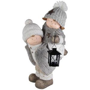 X-Mas Dekofigur kind , Gw74-65058-48Z , Multicolor , Stein , Kinder , 30x48x25 cm , Naturstein,Magnesia , zum Stellen, handgemacht, handgemalt , 0038610137