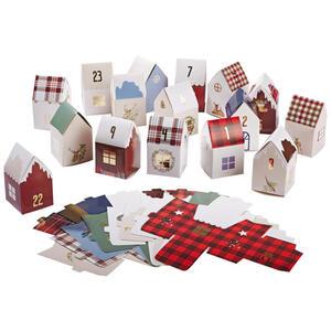 X-Mas Adventskalender multicolor , 455146 , Papier , zum Befüllen, zum Stellen , 003754095103