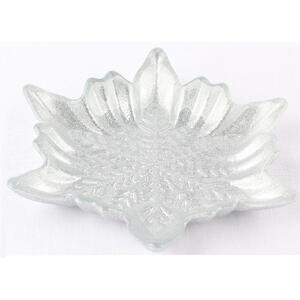 X-Mas Platzteller glas , 17115 , Silberfarben , rückseitig lackiert , handbemalt, handgemacht , 0050140135