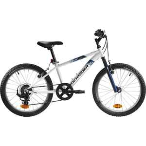 Mountainbike Kinderfahrrad 20 Zoll Rockrider ST 120 weiss/blau