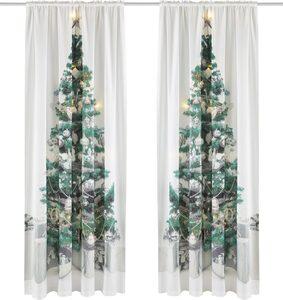 Vorhang »LED-Tannenbaum«, my home, Stangendurchzug (1 Stück), HxB: 230x140, LED-Lichter