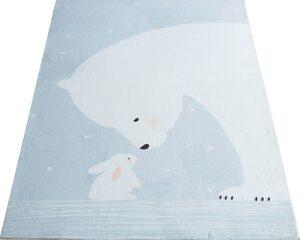 Kinderteppich »Eisbär«, Lüttenhütt, rechteckig, Höhe 8 mm, Kaninchenfell-Haptik
