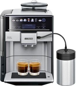 SIEMENS EQ.6 plus extraKlasse TE657F03DE Edelstahl, schwarz Kaffeevollautomat (OneTouch, ceramDrive Mahlwerk, coffeeSelect Display, herausnehmbare Brühgruppe, 1,7 Liter)