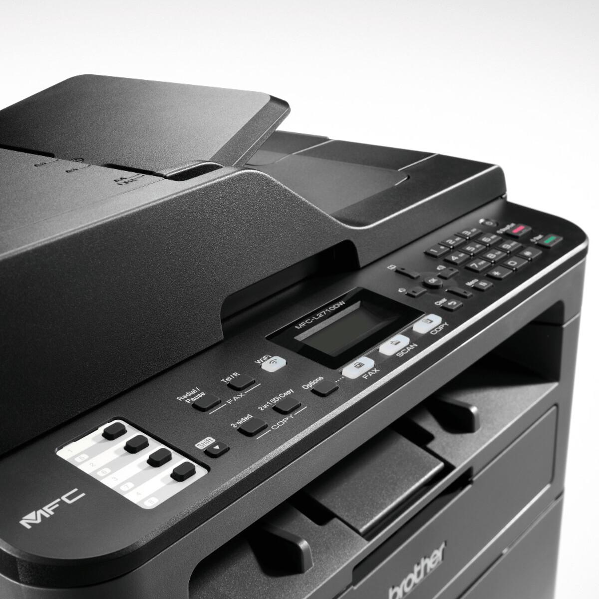 Bild 5 von BROTHER MFC-L2710DW schwarz Multifunktionsdrucker (Schwarzweiß-Laserdrucker, 4-in-1, Scanner, Kopierer, Fax, WLAN, LAN, USB 2.0, Duplex, MFCL2710DWG1)
