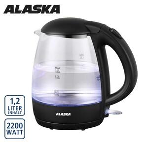 Glas-Wasserkocher WK 1219 G · Basisstation mit Kabelaufwicklung · Abschaltautomatik